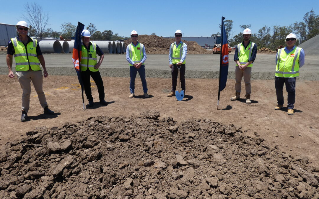 CIP Constructions host Ascot Capital and Asahi at SOD turning ceremony for new Asahi manufacturing facility.