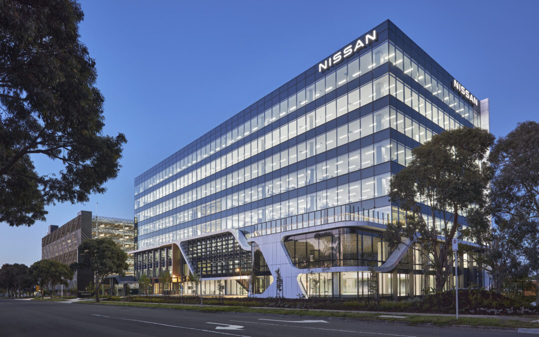 CIP Constructions is awarded 5 Star Green Star rating for Nissan Australia headquarters in Mulgrave, VIC.